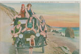 Carload of bathing beauties by Castle Rock near Santa Monica, Calif.