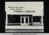 First Montana Avenue Branch Library, 1528 Montana Avenue, Santa Monica, Calif., opened in 1952.