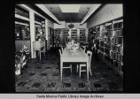 Interior of the first Montana Branch, 1528 Montana Avenue, Santa Monica, Calif. on opening day,...