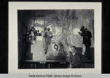 Stanton Macdonald-Wright at the installation and unveiling of  his murals, August 25, 1935,...