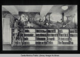 Eulalie Banks Wilson with her mural in the Children's Library at the Santa Monica Public Library...
