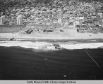 Looking east from the remains of the Pacific Ocean Park Pier toward Ocean Park and the Santa...