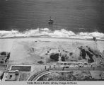 Remains of the Pacific Ocean Park Pier looking west from Santa Monica, June 18, 1975, 2:00 PM.