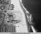 Looking south from the remains of the Pacific Ocean Park Pier at Nielson Way in Santa Monica, June...