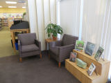 Seating area by the entrance in the Fairview Branch Library (2101 Ocean Park Blvd.), May 2, 2014,...