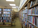 Shelves in the adult area in the Fairview Branch Library (2101 Ocean Park Blvd.), May 2, 2014,...